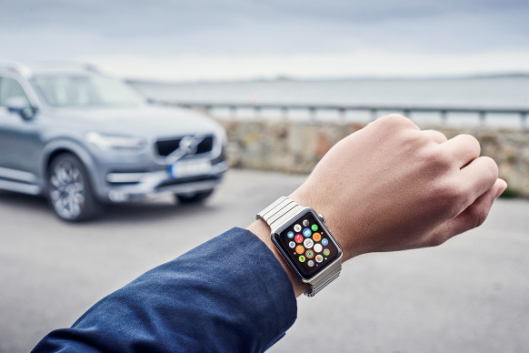 Volvo On Call app in the Apple Watch.